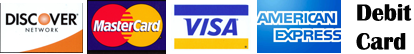 All major Credit cards, paypal and ebay